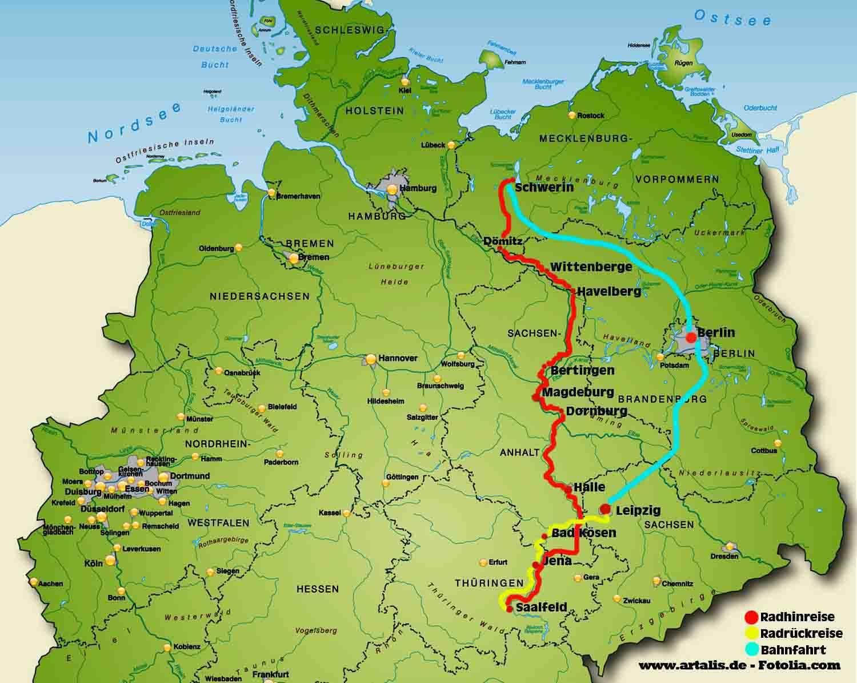 Radreise Elbe Saale