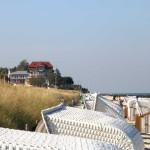 Blick ueber den Strandkorb