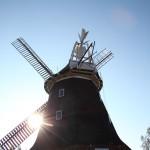 Sonne scheint durch die Stover Mühle