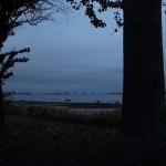 JH Stralsund, abendliche Silhouette der Hansestadt