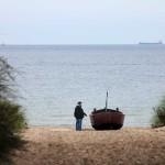 am Strand von Ahlbeck