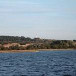 Hiddensee mit  Sicht zum Leuchtturm