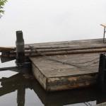 Floß auf der Saale