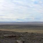 letzter Blick auf die Eiskappe des Langjökull