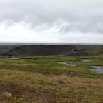 erste Krater säumten den Weg zum Goðafoss