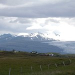 Pferde vor dem Vatnajökull