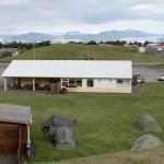 Blick vom Campingplatz zum Gletscher