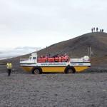 mit dem Aquamobil geht es auf den Gletschersee