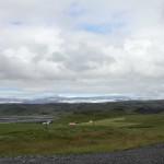 im Hintergrund der Gletscher Mýrdalsjökull