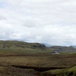 von kleinen Flüssen durchzogenes hügeliges Grasland