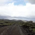 auf dem letzten Teilstück durchfuhr ich Lavafelder vor Hólaskjól