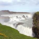 Gullfoss, Regenbogen am Wasserfall
