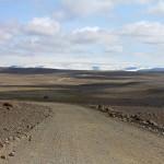 erster Blick zum Gletscher Hofsjökull