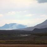 das dampfende Geothermalgebiet kam in Sicht