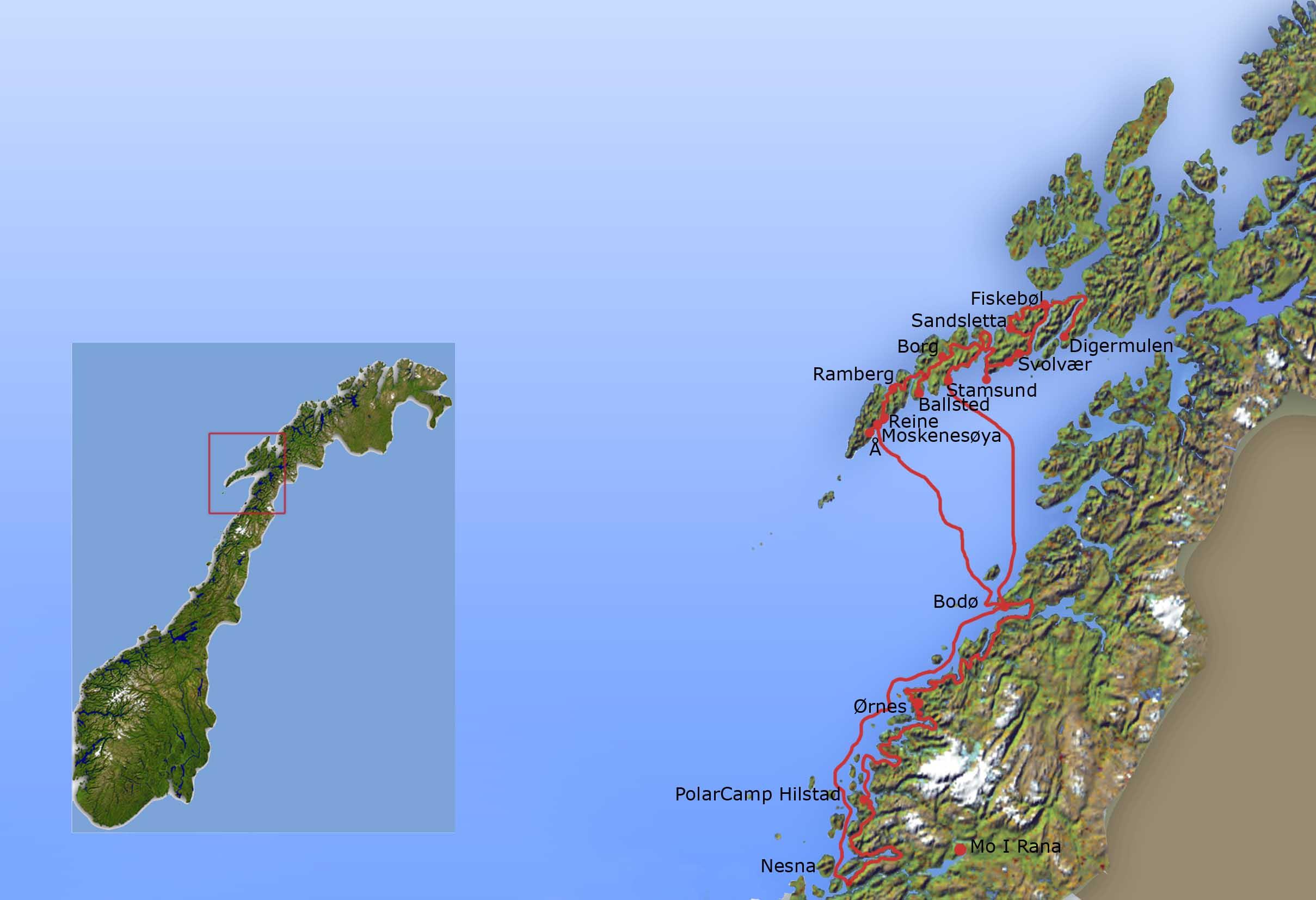 Lofoten Karte