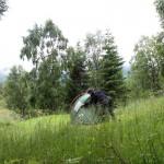 Kongsmark Hytteferie, trocknen des Zeltes