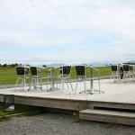 Terrasse des nördlichsten Golfplatzes