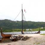 """das Wikingerschiff """"Lofotr"""" ist eine Kopie des Gokstadschiffes"""