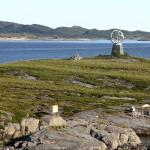 Polarkreisskulptur aus der Nähe