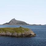 Polarkreisskulptur auf der Insel Viking