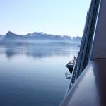 Anfahrt auf den Hafen von Ørnes
