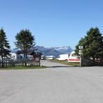 Bodø, Eingang zum Campingplatz