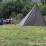 das Zelt meiner norwegischen Reisebegleiter