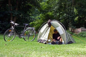 mein Zelt auf dem Campingplatz Havelberg