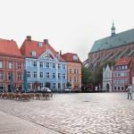 Stralsund, Markt mit Cafe