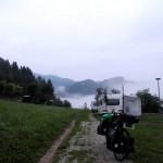 Lago del Corlo am Morgen
