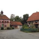 Buchenrod Dorfbrunnen vor dem Haus der Bäuerin