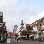 Gifhorn, Steinweg mit St. Nicolai Kirche