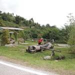 Rastplatz mit Quelle an der Via Claudia Augusta
