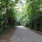 Radweg an der Regnitz in Fürth/Bayern
