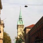 Münzstraße - Blick auf Rathausturm