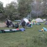 viele Paddler hatten an der Warnow ihre Zelte aufgeschlagen