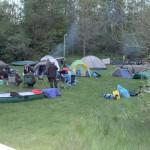 Nachtlager der Paddler in Eickhof
