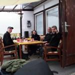 Helmut, Karen, Werner und ich beim Frühstück  v.l.