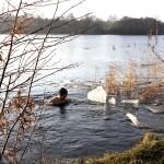 Eisbaden im Lankower See