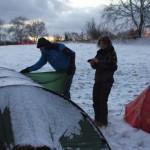 Karen und Werner vor dem Zelt