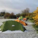 MOF, Zelte im Schnee