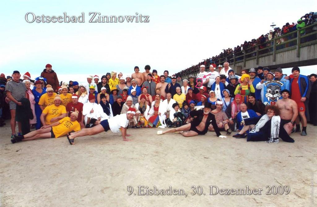 Zinnowitz Eisbaden 2009