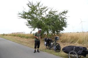 Helmut bei der Obstpause