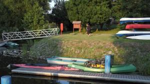 Boote im Hafen von Stolpe