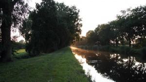 Sonnenuntergang an der Stör