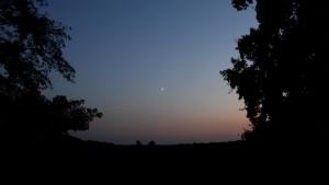 Mond über der Lewitz
