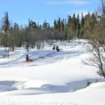 durch tief verschneite Wälder (Foto Mario R.)
